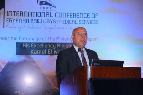وزير النقل يفتتح المؤتمر العلمي الأول لمستشفى السكة الحديد