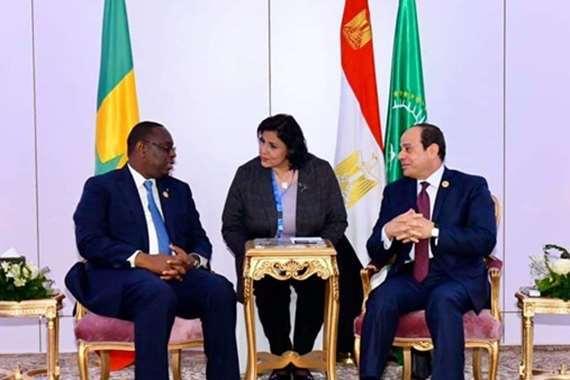 الرئاسة تكشف تفاصيل لقاء السيسي مع نظيره السنغالي