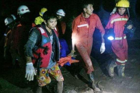 انزلاق التربة في بورما يودي بحياة  113 شخصا