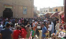 بدء توافد الزائرين على احتفالات العذراء بسمالوط