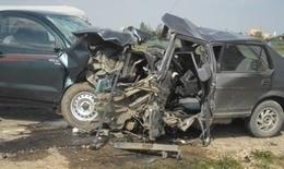 مصرع شخصين وإصابة 4 آخرين في حادث مروري بقنا