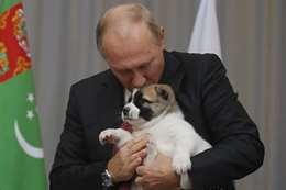 بوتين يقبل هدية رئيس تركمانستان