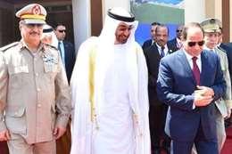 السيسى أثناء افتتاح قاعدة محمد نجيب