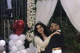 احمد سعد وسمية الخشاب من حفل زفافهما