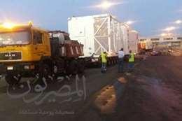صورة الطرود والمعدات أثناء خروجها من ميناء سفاجا