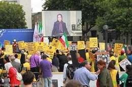 """مظاهرات لـ""""مجاهدي خلق"""" الإيرانية في لندن"""