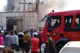 حريق بمطار القاهرة