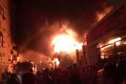 حريق مخزن الكاوتش