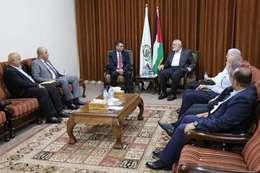 وفد من المخابرات المصرية يلتقي رئيس «حماس» في غزة