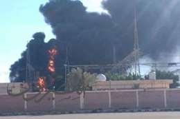 حريق محطة كهرباء مطروح