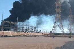 حريق كهرباء مطروح