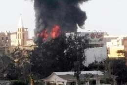 حريق كنيسة المنصورة