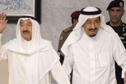 الملك سلمان وأمير الكويت