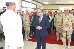 السيسي خلال افتتاح مصنع الغازات الطبية والصناعية