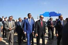 زيارة الرئيس الزامبى لقناة السويس الجديدة