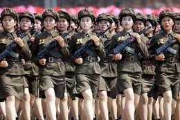 المجندات فى جيش كوريا الشمالية