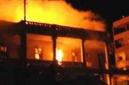 حريق هائل بمصنع منسوجات شبرا الخيمة