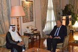 سامح شكري ورئيس البرلمان العربي