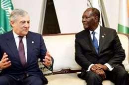رئيس ساحل العاج ورئيس البرلمان الأوروبى