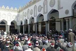 احتجاجات بالجامع الأزهر