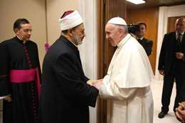 الطيب و بابا الفاتيكان