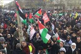 مظاهرة داعمة لفلسطين