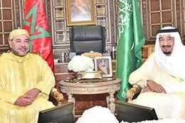 الملك سلمان والملك محمد السادس