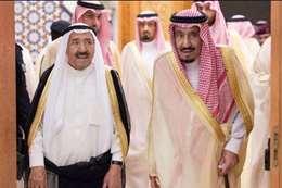 أمير الكويت والملك سلمان