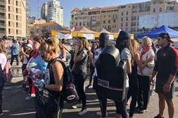 العرض المدني في مظاهرات لبنان