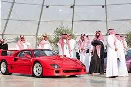 """جانب من زيارة """"بن سلمان"""" لمعرض الرياض للسيارات"""