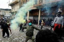 محاصرة مبني الشرطة في ذي قار