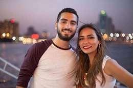 الفنان محمد الشرنوبي والمنتجة سارة الطباخ
