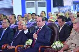 السيسي خلال افتتاح المشروعات القومية