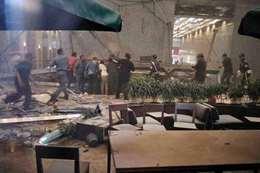 انهيار مبنى بورصة إندونيسيا
