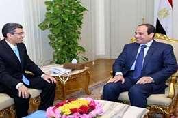 الرئيس السيسي والكاتب الصحفي ياسر رزق