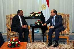السيسى مع رئيس وزراء إثيوبيا