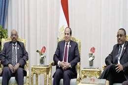 الرئيس السيسي ونظيره السوداني وديسالين