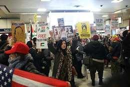 مظاهرة فى نيويورك