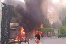حريق إحدى الكافتيريات بجامعة القاهرة