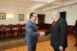 رئيس جامعة القاهرة مع وزير الاتصالات