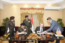 توقيع اتفاقية تعاون عسكري بين أمريكا ومصر