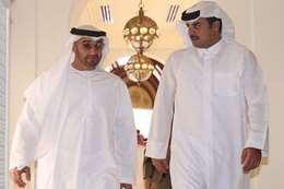 أمير قطر والشيخ محمد بن زايد