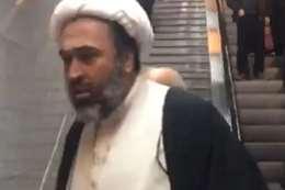 معمم شيعي يلاحق امرأة في محطة مترو