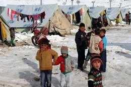 مخيمات السوريين فى البرد