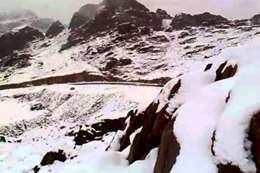 ثلوج جبال تبوك