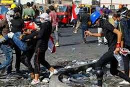 الاشتباكات بين الأمن والمتظاهرين في بغداد