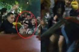لقطة من فيديو التحرش الجماعي بالمنصورة