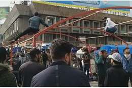 خيام الاعتصام في ساحة التحرير