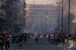قوات الأمن تقتحم اعتصام البصرة