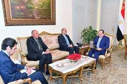 اجتماع السيسي ومستشار الملك الأردني